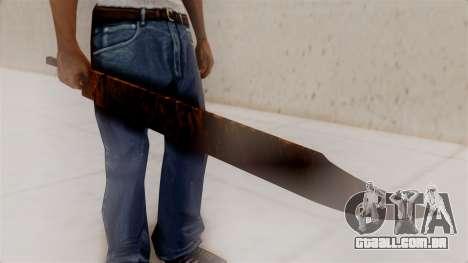 Great Knife para GTA San Andreas segunda tela