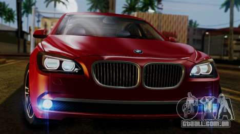 BMW 7 Series F02 2013 para vista lateral GTA San Andreas