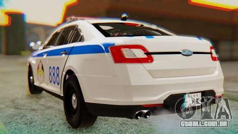 Ford Taurus Iraq Police v2 para GTA San Andreas esquerda vista