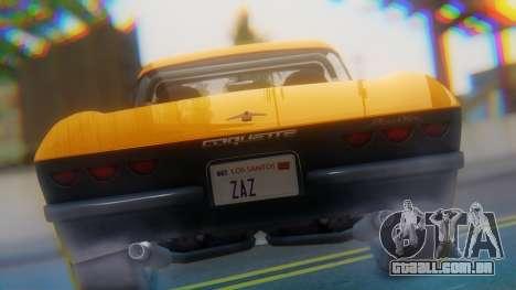 Invetero Coquette BlackFin Not Convertible para GTA San Andreas vista traseira
