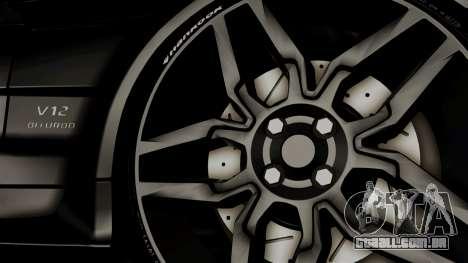 Mercedes-Benz SL65 E-Tuning para GTA San Andreas traseira esquerda vista