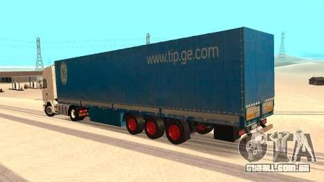 Tilt trailer para GTA San Andreas esquerda vista