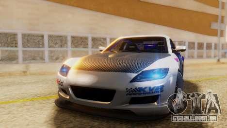 Mazda RX-8 Tuned Black Rock Shooter Itasha para GTA San Andreas