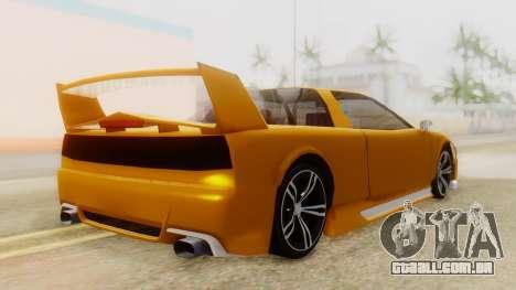 Infernus BMW Revolution with Spoiler para GTA San Andreas esquerda vista