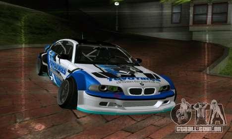 BMW M3 E46 ToyoTires GT-SHOP para GTA San Andreas vista direita