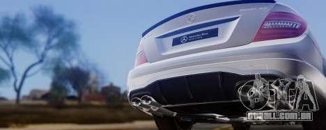 Mercedes-Benz C63 AMG 2013 para GTA San Andreas vista superior