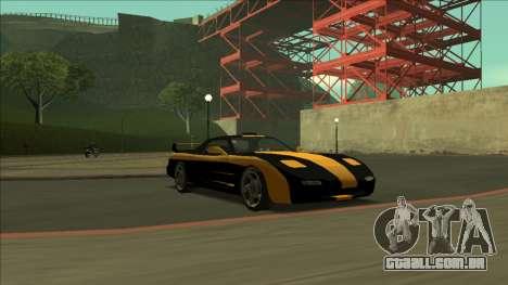 ZR-350 Road King para GTA San Andreas interior