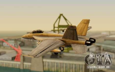 FA-18F Super Hornet BF4 para GTA San Andreas esquerda vista