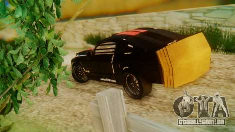 Shelby GT500 Death Race para GTA San Andreas esquerda vista