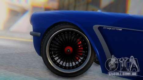 Invetero Coquette BlackFin Convertible para GTA San Andreas traseira esquerda vista