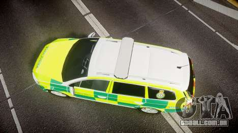 Volkswagen Passat B7 North West Ambulance [ELS] para GTA 4 vista direita