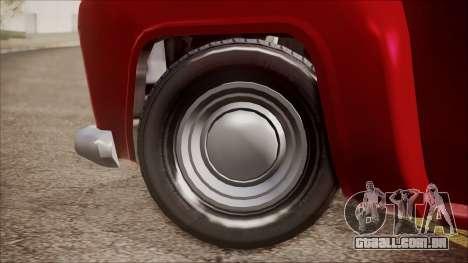 GTA 5 Vapid Slamvan IVF para GTA San Andreas traseira esquerda vista