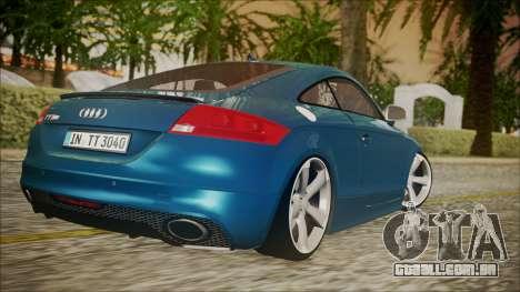 Audi TT RS 2011 v3 para GTA San Andreas esquerda vista
