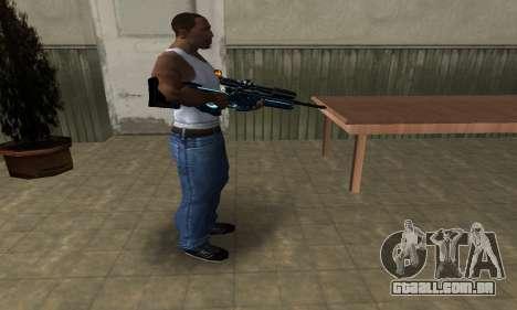 Sniper Blue Snow para GTA San Andreas segunda tela