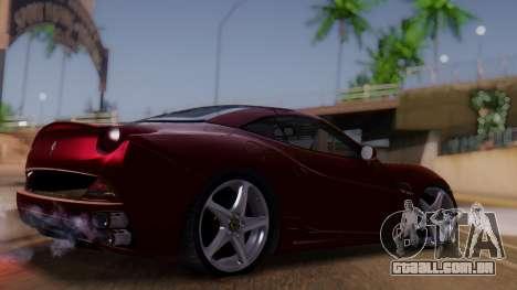 Ferrari California v2.0 para GTA San Andreas esquerda vista