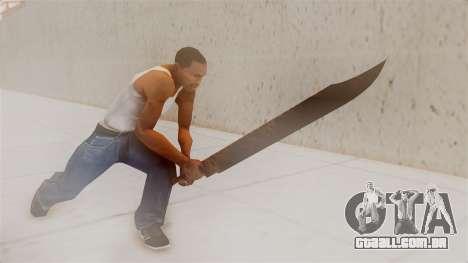 Great Knife para GTA San Andreas terceira tela