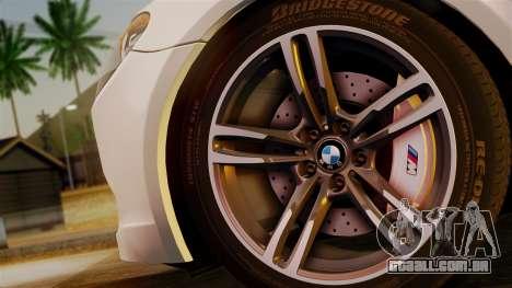 BMW 7 Series F02 2013 para GTA San Andreas traseira esquerda vista