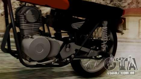 Honda CG 125 Classic para GTA San Andreas vista traseira