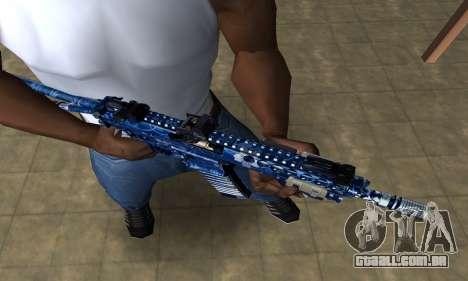 Blue Life M4 para GTA San Andreas segunda tela