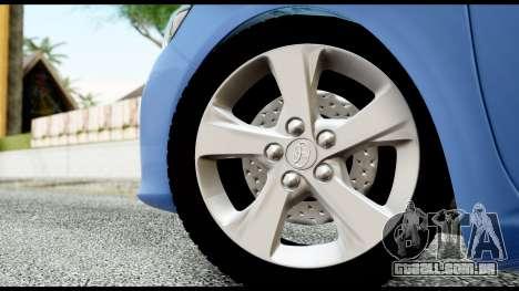 Toyota Corolla 2012 para GTA San Andreas traseira esquerda vista