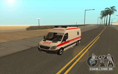 Mercedes-Benz Sprinter Ambulância Ucrânia para GTA San Andreas