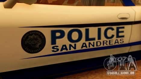 Police Infernus para GTA San Andreas vista direita