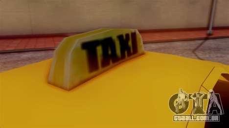 Washington Taxi para GTA San Andreas traseira esquerda vista