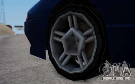 Elegy New SWZ para GTA San Andreas traseira esquerda vista