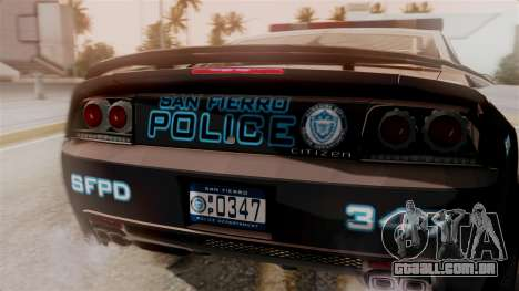 Hunter Citizen from Burnout Paradise Police SF para GTA San Andreas vista traseira