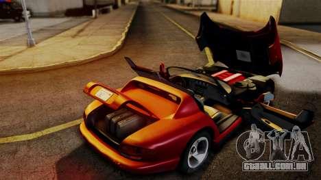 Dodge Viper RT 10 1992 para GTA San Andreas vista direita