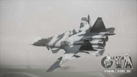 SU-47 Berkut Grabacr Ace Combat 5 para GTA San Andreas esquerda vista