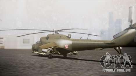 Mil Mi-24W Polish Land Forces para GTA San Andreas esquerda vista