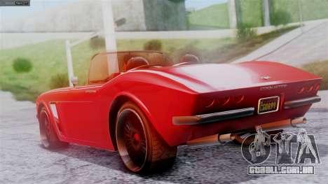 GTA 5 Invetero Coquette BlackFin IVF para GTA San Andreas esquerda vista
