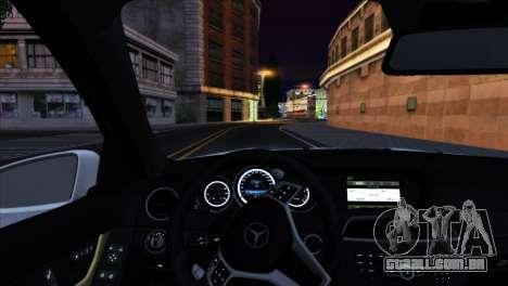 Mercedes-Benz C63 AMG 2013 para o motor de GTA San Andreas