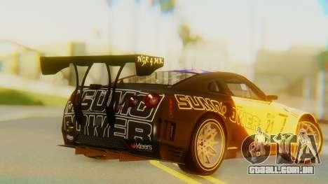 Nissan GT-R GT1 Sumo Tuning para GTA San Andreas esquerda vista