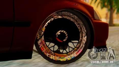Honda Civic JnR Tuning para GTA San Andreas traseira esquerda vista