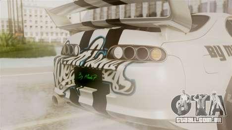 Toyota Supra Full Tuning para GTA San Andreas vista interior