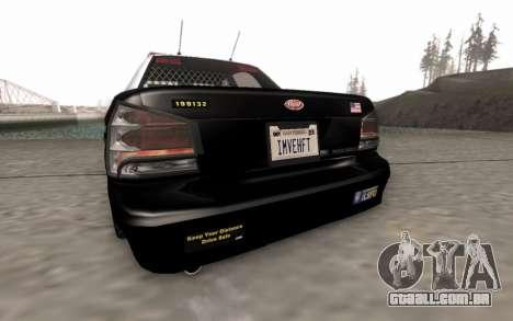 GTA 5 Stanier Police para GTA San Andreas vista traseira