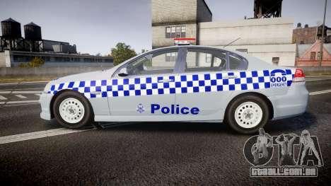 Holden Commodore Omega Victoria Police [ELS] para GTA 4 esquerda vista