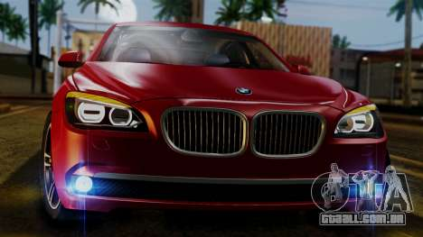 BMW 7 Series F02 2013 para GTA San Andreas vista interior