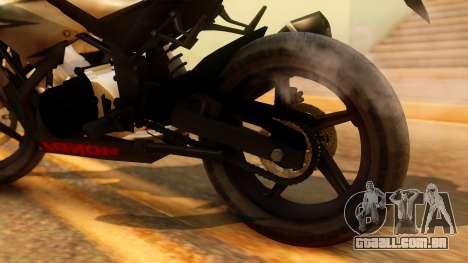 Honda CBR150R K45 para GTA San Andreas vista traseira