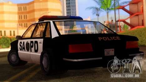 Police SA Premier para GTA San Andreas esquerda vista