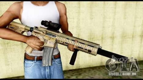 HK416 SOPMOD para GTA San Andreas terceira tela