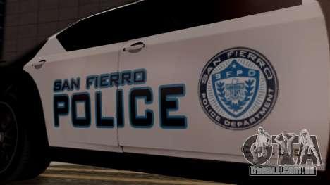 Hunter Citizen from Burnout Paradise Police SF para GTA San Andreas vista direita
