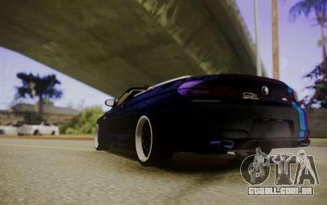 BMW M6 Cabrio para GTA San Andreas traseira esquerda vista