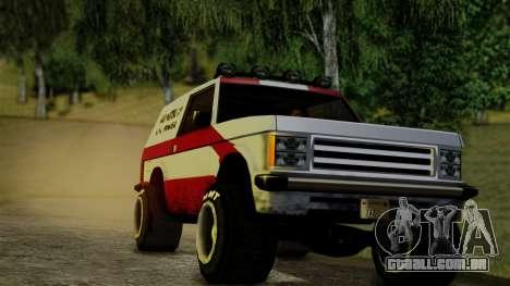 New Sandking para GTA San Andreas traseira esquerda vista