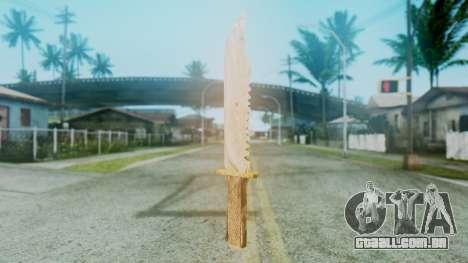 Red Dead Redemption Knife para GTA San Andreas segunda tela