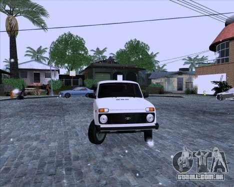 VAZ 2121 Niva 4x4 para GTA San Andreas traseira esquerda vista