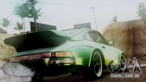 Porsche 911 Turbo (930) 1985 Kit A PJ para GTA San Andreas esquerda vista