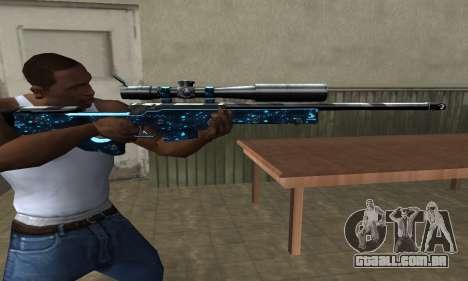 Sniper Blue Snow para GTA San Andreas terceira tela